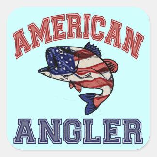 American Angler Square Sticker