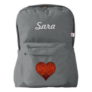 American Apparel Backpack Glitter Graphic Heart