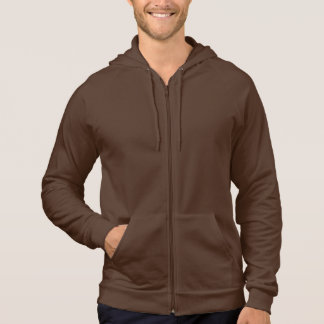 American Apparel California Fleece Zip Hoodie Brow