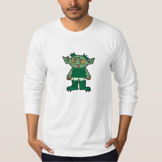 American Apparel Long Sleeve Green Monster Shirt