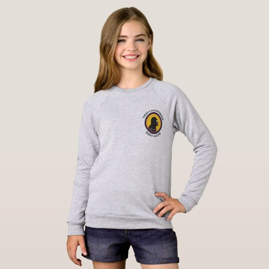 American Apparel Raglan: Math Smart Cavewoman Sweatshirt