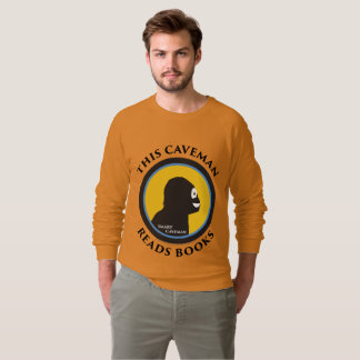 American Apparel Raglan: Read Smart Caveman Sweatshirt