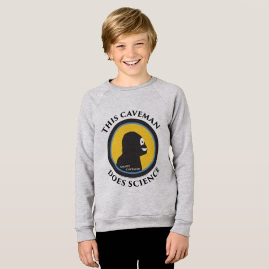 American Apparel Raglan: Science Smart Caveman Sweatshirt