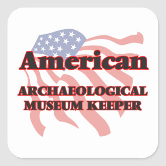 American Archaeological Museum Keeper Square Sticker