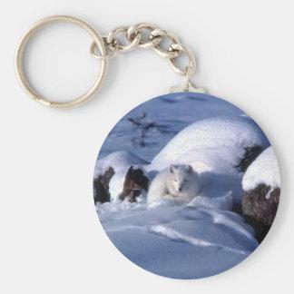 American Arctic Fox Key Ring