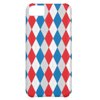 American Argyle (Red, White & Blue) iPhone 5C Covers