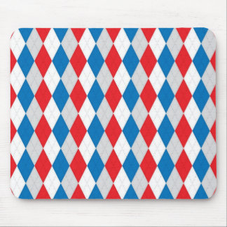 American Argyle (Red, White & Blue) Mouse Pad