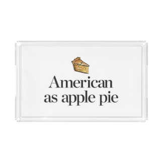 American as Apple Pie Acrylic Tray