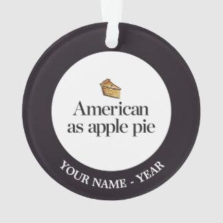 American as Apple Pie Ornament