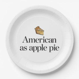 American as Apple Pie Paper Plate