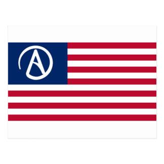 American Atheist Flag Postcard