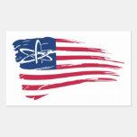 American Atheist Rectangular Stickers