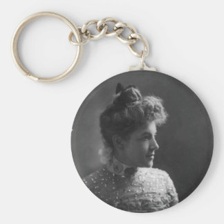 American Author and Poet Ella Wheeler Wilcox Basic Round Button Key Ring