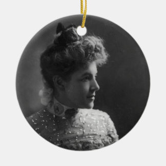 American Author and Poet Ella Wheeler Wilcox Double-Sided Ceramic Round Christmas Ornament