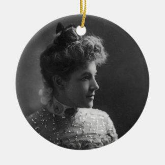 American Author and Poet Ella Wheeler Wilcox Round Ceramic Decoration