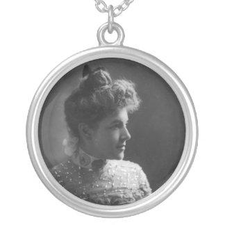 American Author and Poet Ella Wheeler Wilcox Round Pendant Necklace