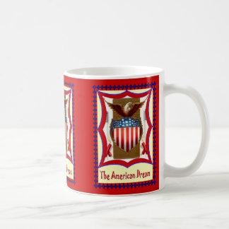 American badge and bald eagle coffee mug