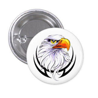 American Bald Eagle 3 Cm Round Badge