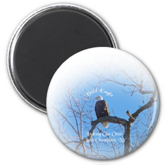 American Bald Eagle 6 Cm Round Magnet