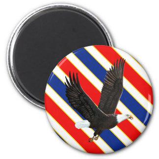 American Bald Eagle 6 Cm Round Magnet