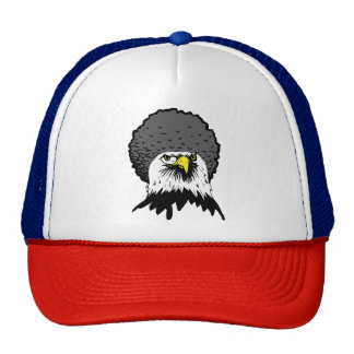 American Bald Eagle Afro Funny Ball Cap Hat