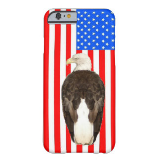 American Bald Eagle And American Flag Barely There iPhone 6 Case