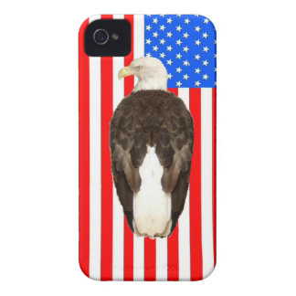 American Bald Eagle And American Flag Case-Mate iPhone 4 Case