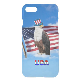 American Bald Eagle And American Flag iPhone 7 Case