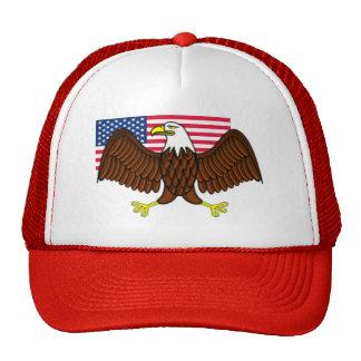 American Bald Eagle and Flag Cap