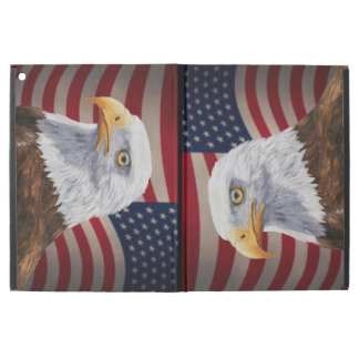 "American Bald Eagle and Flag iPad Pro 12.9"" Case"