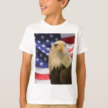 American Bald Eagle and Flag T Shirt