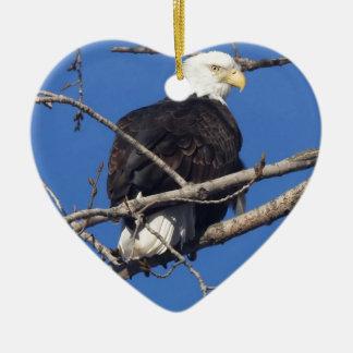 American Bald Eagle Ceramic Heart Decoration