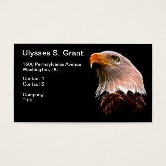 American Bald Eagle Head Business Card