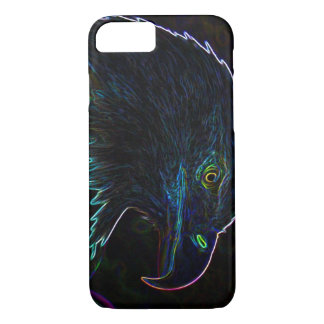 American Bald Eagle in Glowing Edges iPhone 7 Case