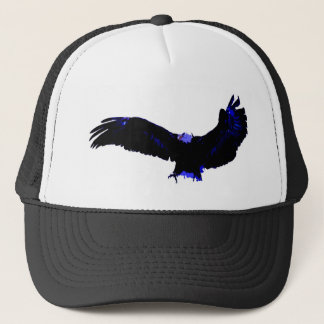 American Bald Eagle Landing Trucker Hat