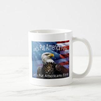 American Bald Eagle on guard Coffee Mug