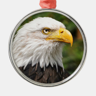 American Bald Eagle Silver-Colored Round Decoration