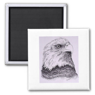 American Bald Eagle Square Magnet
