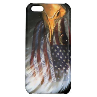 American bald eagle with american flag cover for iPhone 5C