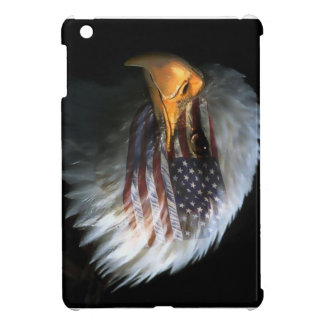 American bald eagle with American flag iPad Mini Covers
