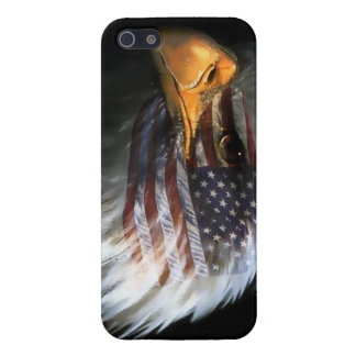 American bald eagle with american flag iPhone 5 covers