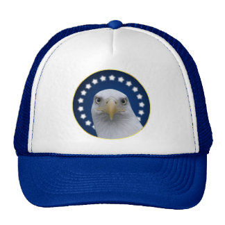 American Bald Eagle With Stars Mesh Hat