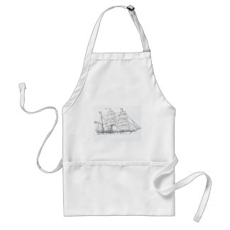 American Bark Tall Ship Standard Apron