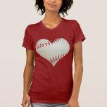 American Baseball In A Heart Shape T Shirt