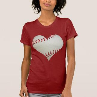 American Baseball In A Heart Shape T-Shirt
