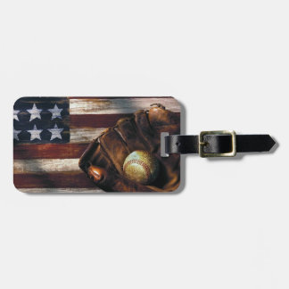 American Baseball Luggage Tag