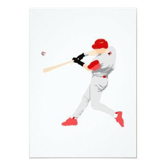 American Baseball Player 13 Cm X 18 Cm Invitation Card