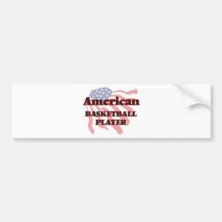 American Basketball Player Bumper Sticker