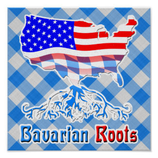 American Bavarian Roots Poster Print