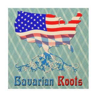 American Bavarian Roots Wood Canvas